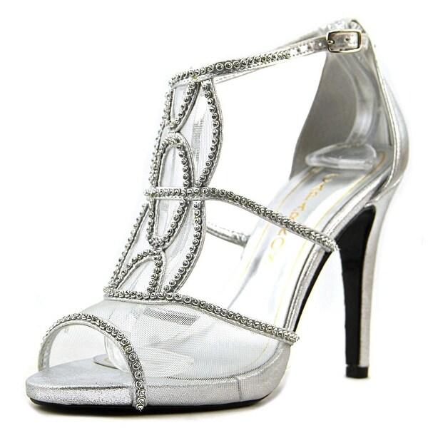 Caparros Ellen Women Open Toe Canvas Silver Sandals