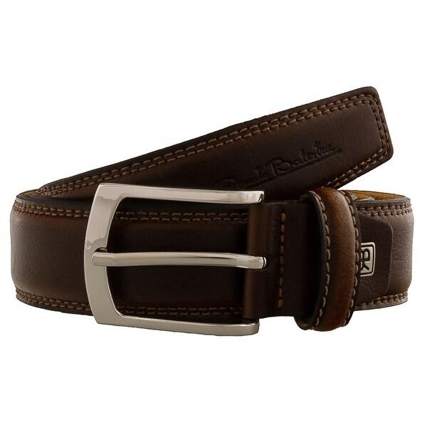 Renato Balestra CESARE Brown Brown Leather Mens Belt - 40