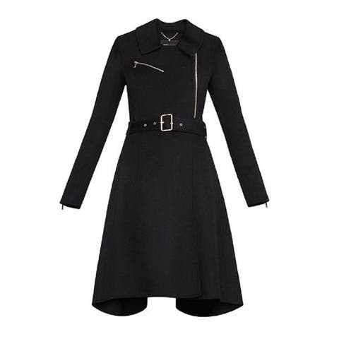 BCBGMAXAZRIA Ryan Black Wool Coat