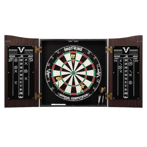Viper Vault Dartboard Cabinet with Shot King Sisal Dartboard / 42-0377