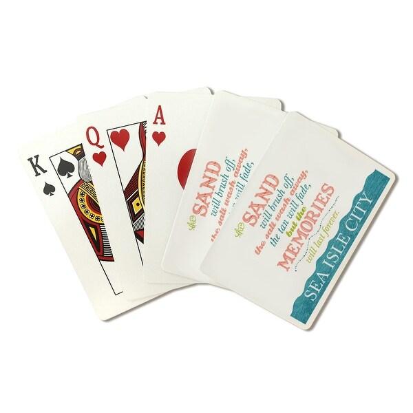 Sea Isle City, New Jersey - Beach Memories Last Forever - Lantern Press  Artwork (Playing Card Deck - 52 Card Poker Size with Jok