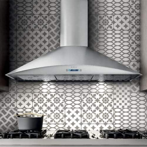 Shop 600 Cfm 36 Inch Wide Professional Grade Wall Mount Range Hood With Electronic Controls And Stainless Steel Mesh Filters From The Free Shipping Today Overstock 17569811