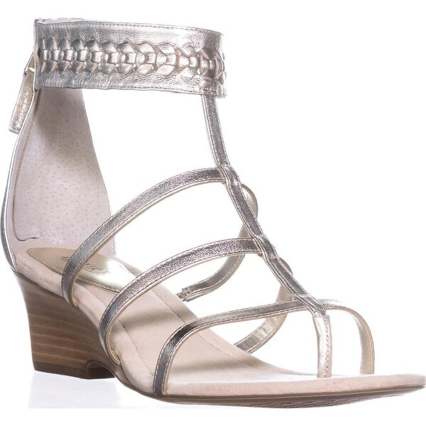 Lauren by Ralph Lauren Meira Wedge Gladiator Sandals, Silver - 11 us / 42 eu