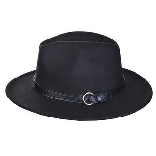 Top Headwear Wide Brim Fedora w/ Belt Band - One size