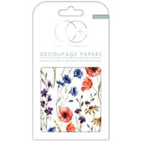"Craft Consortium Decoupage Papers 13.75""X15.75"" 3/Pkg-Wildflowers"