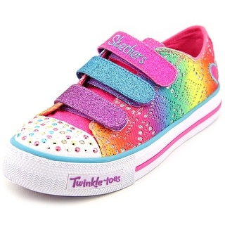 Twinkle Toes By Skechers Rainbow Madness Youth Round Toe Multi Color Sneakers