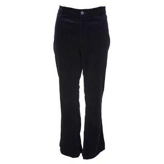 Lauren Ralph Lauren Navy Amias Flare Velvet Pants 10