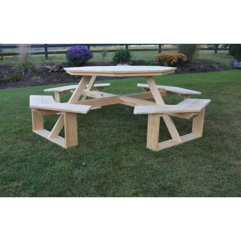 """Pressure Treated Pine 54"""" Octagon Walk-In Table"""
