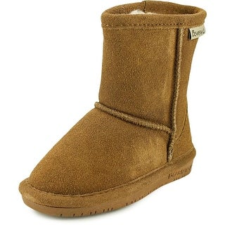 Bearpaw Emma Youth Round Toe Suede Brown Snow Boot