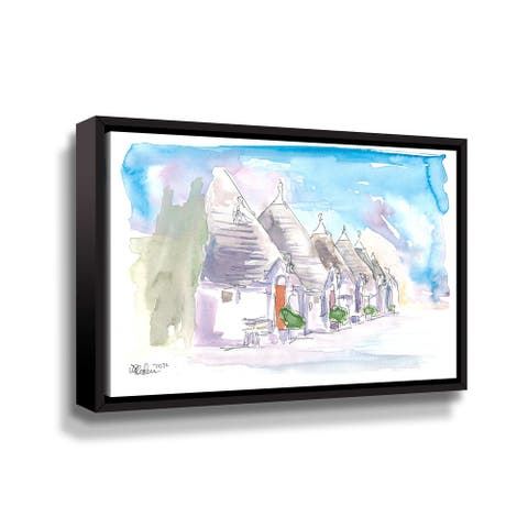 The Trulli Buildings Of Alberobello Bari Italy Gallery Wrapped Floater-framed Canvas