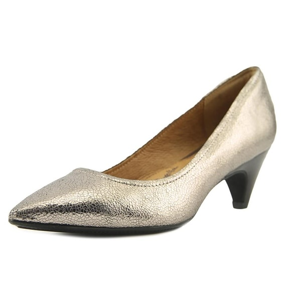 Sofft Altessa II Women W Pointed Toe Leather Silver Heels