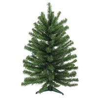 "24"" Traditional Mini Pine Artificial Christmas Tree - Unlit - green"