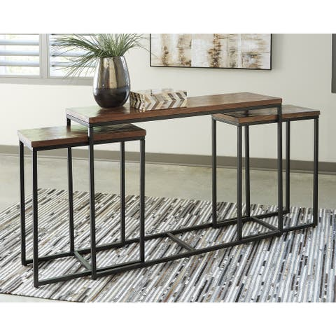 Jadenley Brown/Black Console Table - Set of 3