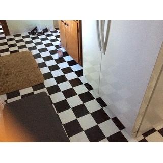 achim nexus black and white self adhesive vinyl floor tile. Black Bedroom Furniture Sets. Home Design Ideas