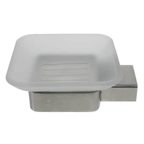 QT Modern Bathroom Soap Dish - Extremely Stylish Made from 304 Brushed Stainless Steel
