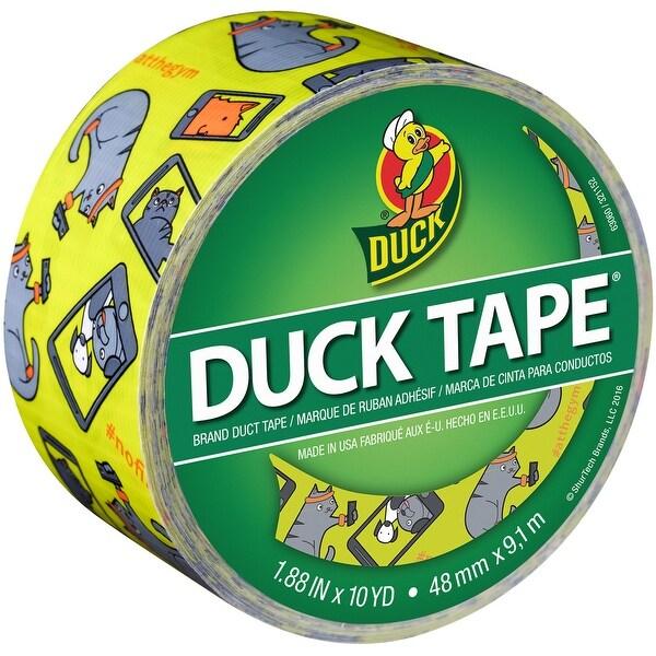 """Patterned Duck Tape 1.88""""X10yd-Selfie Cat"""