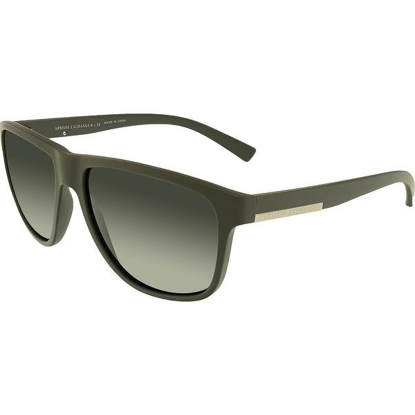 6dfebbe22be4a Shop Armani Exchange Men s AX4052S-818087-58 Grey Square Sunglasses ...