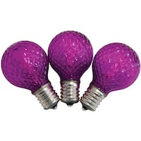 Celebrations UURT4P11 G40 Faceted Replacement LED Bulbs, Purple