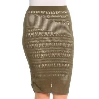 RACHEL ROY Womens Green Knee Length Body Con Skirt  Size: S