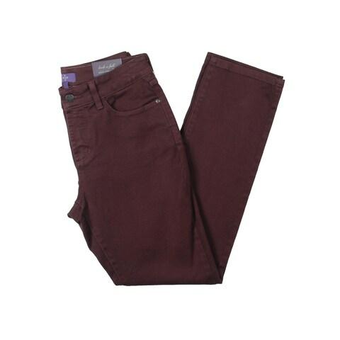 NYDJ Womens Petites Sheri Skinny Jeans Colored Slimming Fit
