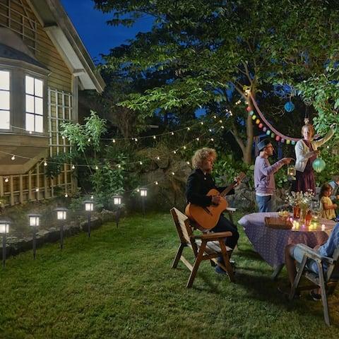 6pcs Waterproof Solar Torch Light Outdoor Decorative Lighting