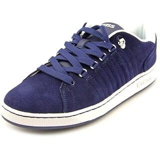 K-Swiss Lozan Men Round Toe Suede Blue Sneakers