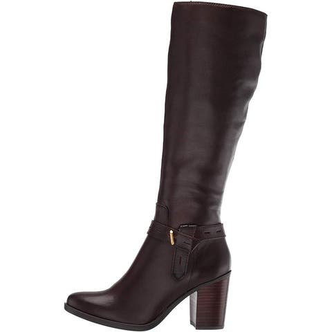 Naturalizer Women's Shoes Kamora Leather Closed Toe Knee High Fashion Boots