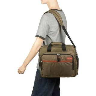 """Targus Olive 15.4"""" Grove Topload Laptop Carrying Case"""