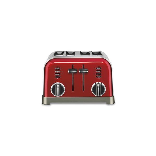 4-Slice Toaster Metallic Red Metal Classic Metal Classic 4-Slice Toaster Metallic Red