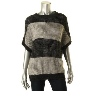 Pure DKNY Womens Alpaca Blend Striped Pullover Sweater - p/s