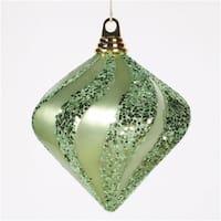 Vickerman M133254 6'' Celadon Candy Glit Swirl Diamond