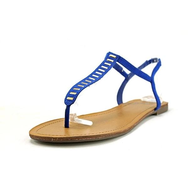 Material Girl Womens SALEM Split Toe Casual T-Strap Sandals