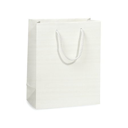 Shop Pack Of 100 Solid White Matte Cub Gift Bags 8 X 4 X 10 W
