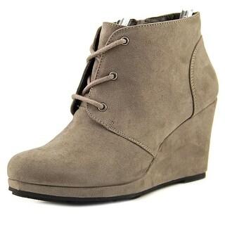 Style & Co Alaisi Women Open Toe Suede Gray Wedge Heel