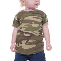 Kavio! Unisex Infants Camouflage Crew Neck Short Sleeve Tee Camo