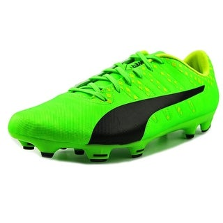Puma EvoPOWER Vigor 4 FG Men  Round Toe Synthetic Green Cleats