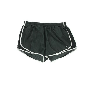 Nike Womens Plus Shorts Dri-Fit Partially Lined - black neon - 1x