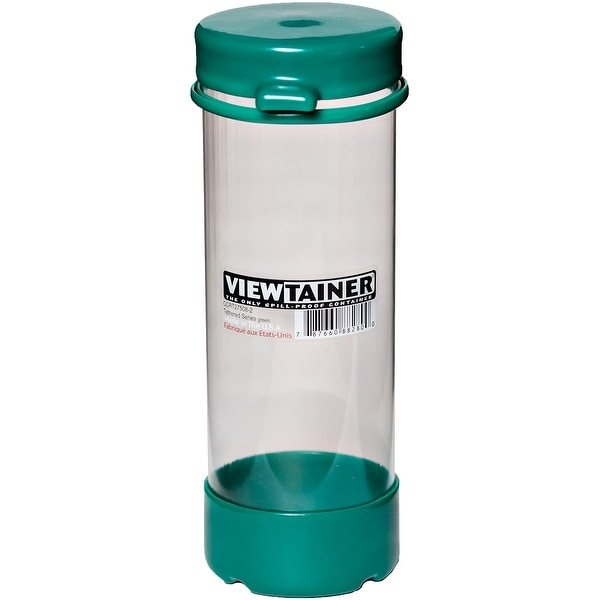 "Viewtainer Tethered Cap Storage Container 2.75""X8""-Green"