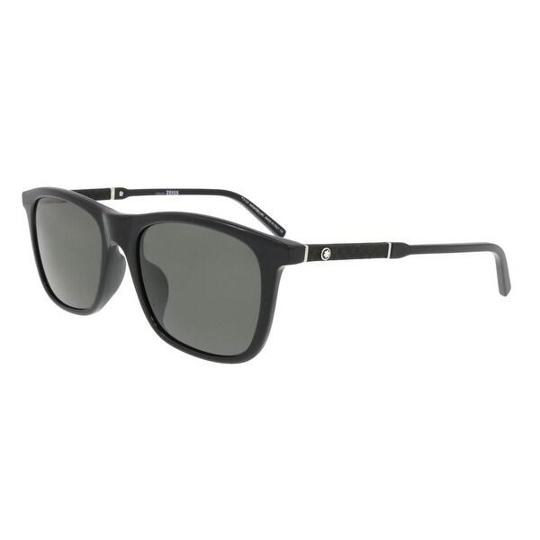 dd8dc43c2c Shop Montblanc MB606S-F 01D Black Rectangular Sunglasses - no size ...