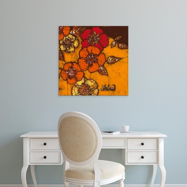 Easy Art Prints Andrea Davis's 'Fire Bloom III' Premium Canvas Art