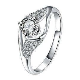 Crystal Stone Spiral Jewels Classical Ring