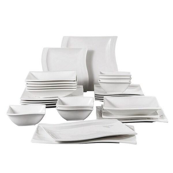 MALACASA Flora Porcelain Dinnerware Set (Service for 6). Opens flyout.