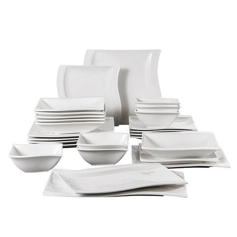 MALACASA, Series Flora, Ceramic Dinnerware Set For 6
