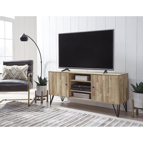 "Gerdanet Large TV Stand, Light Brown/Natural - 60"" W x 18"" D x 27"" H - 60"" W x 18"" D x 27"" H"