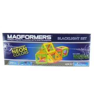 Magformers Neon 28-Piece Glow In The Dark Set