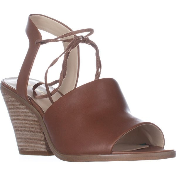 Nine West Yanka Lace Ankle Strap Sandals, Dark Natural