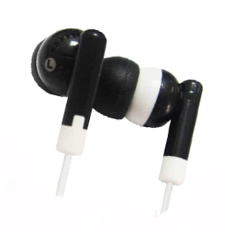 Supersonic Digital Stereo Earphones With Soft Rubber Ear Cap Black