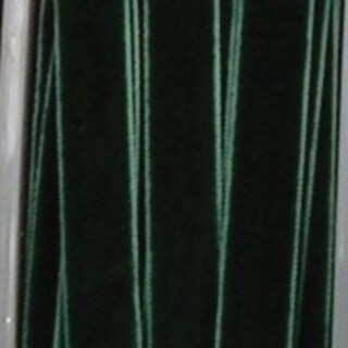 """Forest Green Soft Velvet With Woven Edge Decorating Ribbon 1 1/2"""" x 22 Yards"""
