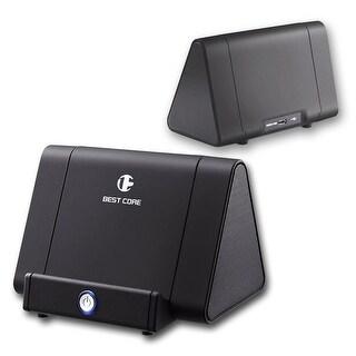 Indigi® Magic iBoost Amplifying Speaker - Universal (iOS or Android) - 750mAh - Matte Black - No Bluetooth needed