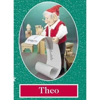 "12.5"" Zims The Elves Themselves Theo Collectible Christmas Elf Figure - multi"